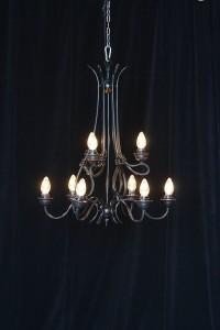 Large black chandelier rentals charleston SC from AV Connections