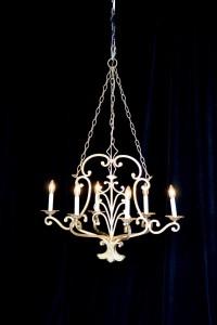Large gold vintage chandelier rental charleston sc from AV Connections