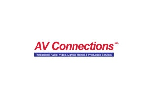 AV Connections, Inc. logo national audio visual lighting rental staging corporation