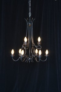 Large black chandelier rentals NC and VA  from AV Connections