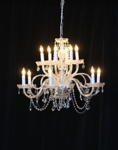 Large crystal chandelier rental for wedding and events NC and VA