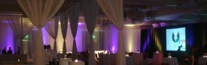 Company holiday party AV lighting rentals