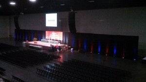 large screen event projection rental